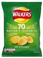 Walkers Crisps Salt & Vinegar 32 x 32.5gm